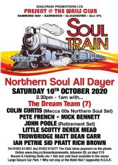 Walls Club Gloucester Northern Soul All Dayer Saturday 10th October 2020 2.30pm - 1am Ticket